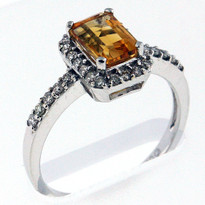 14kt Gold Citrine and Diamond Ring 4013479