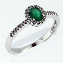.34ct Emerald White Gold Ring