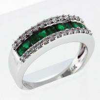 .66ct Emerald White Gold Ring