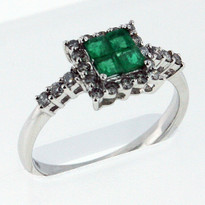.36ct Emerald White Gold Ring