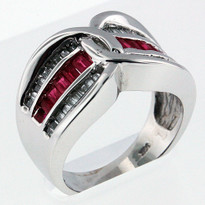 .40ct Ruby Ring in 14kt White Gold