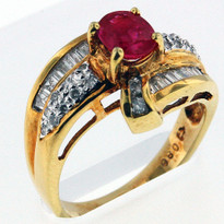 .80ct Ruby Ring Yellow Gold