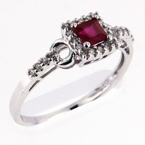 .35ct Ruby Ring White Gold