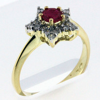 .44ct Ruby Ring Yellow Gold
