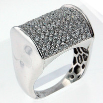 1.81ct Diamond Men's White Gold Ring