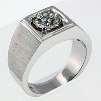 1.81ct Diamond Men's White Gold Ring-03B1Y