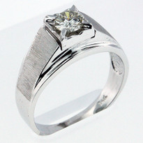 .52ct Diamond Men's White Gold Ring