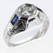 .43ct Diamond Men's White Gold Ring