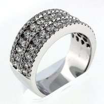 14kt White Gold, 1.93ct Diamond Wedding Band