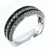 18kt White Gold, .57ct Black Diamond Wedding Band