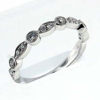 18kt White Gold, .34ct Diamond Wedding Band