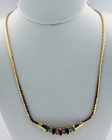 .24ct Diamond Necklace 14k Yellow Gold