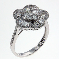 1.35ct Diamond Clocktail  Ring in White Gold