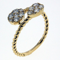 .54ct Tear Drop Cluster Ring in Yellow Gold