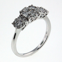 .67ct Three Cluster Ring in White Gold