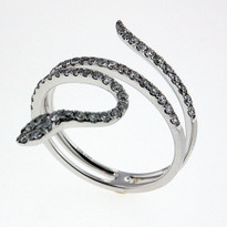 .51ct Diamond Snake  Ring in White Gold