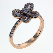 .57ct Diamond Butterfly Ring in Rose Gold