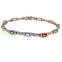 7.2ct Multi Color Sapphire Bracelet