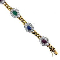 14kt Yellow Gold multi Color Bracelet
