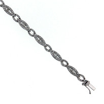 14 kt White Gold With 2.25ct Diamond Tennis Bracelet