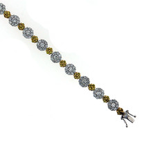 18kt White Gold With 3.21ct Diamond Tennis Bracelet