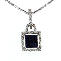 .46ct Sapphire Pendant in 14kt White Gold