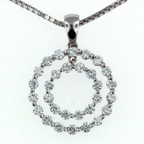 .86ct Diamond  Pendant in 18kt Gold