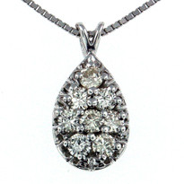 .86ct Diamond Pendant in 14kt Gold