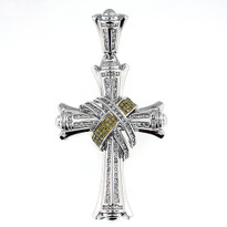 3.21ct Diamond Cross Pendant