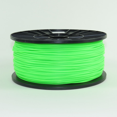 ABS filament, 1.75mm, fluorescent green color