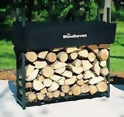 Woodhaven Log, Firewood Rack & Cover 3'x 3' x 10""