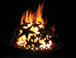 Good Directions Starry Night Copper Fire Dome Pit 23
