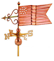 Full Size  American Flag Weathervane