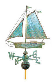 Full Size  Large Sloop Weathervane