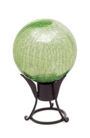 "Achla 12"" Gazing Globe Light Green Crackle"