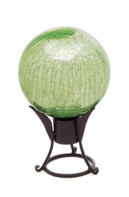 "Achla 12"" Gazing Globe Light Green Crackle"