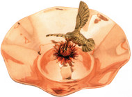 "Achla 13"" Hummingbird Bird Bath Polished Copper"