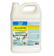 API PondCare AlgaeFix 1 Gallon Pond Algae Control 169C          Submit a Review    03169 - Pond Care AlgaeFix 1 gallon (MPN 169C)   Effectively controls many types of green or green water algae, string or hair algae and blanket weed in ponds that contain live plants. Controls existing algae and helps resolve additional algae blooms. Keeps ornamental ponds and water gardens clean & clear. Can be used in ponds with plants!