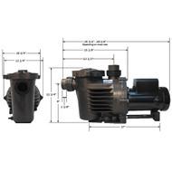 Performance Pro Artesian External Pump A2-1/4-47 Low RPM NO CORD