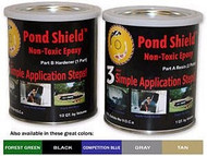 Pond Armor Pond Sheild Non-Toxic Epoxy Pond Liner & Sealer 1.5 Quart Black Color Free Shipping