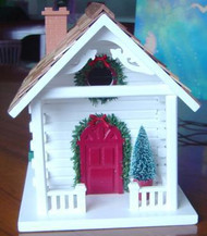 Home Bazaar Christmas Cabin Bird House