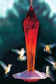 Schrodt Faceted Ruby Hummingbird Feeder