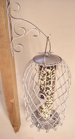 Songbird Essentials Caged Seed Feeder Large Pewter