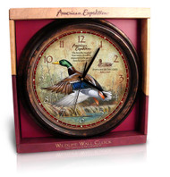 American Expedition Mallard Duck Wall Clock