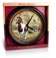 American Expedition Paint Horse Wall Clock