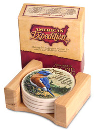 American Expedition Bluebird Stone Coaster Set
