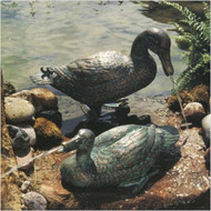 Brass Baron Large Duck Pair Fountain