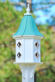 Fancy Home Products Birdhouse Patina Copper Bell Roof BH14-8CP-PC BELL