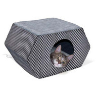 K&H Pet Products Kitty Hidout Gray / Black (unheated) KH3894