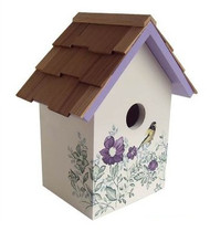 Home Bazaar Printed Standard Anemone Bird House